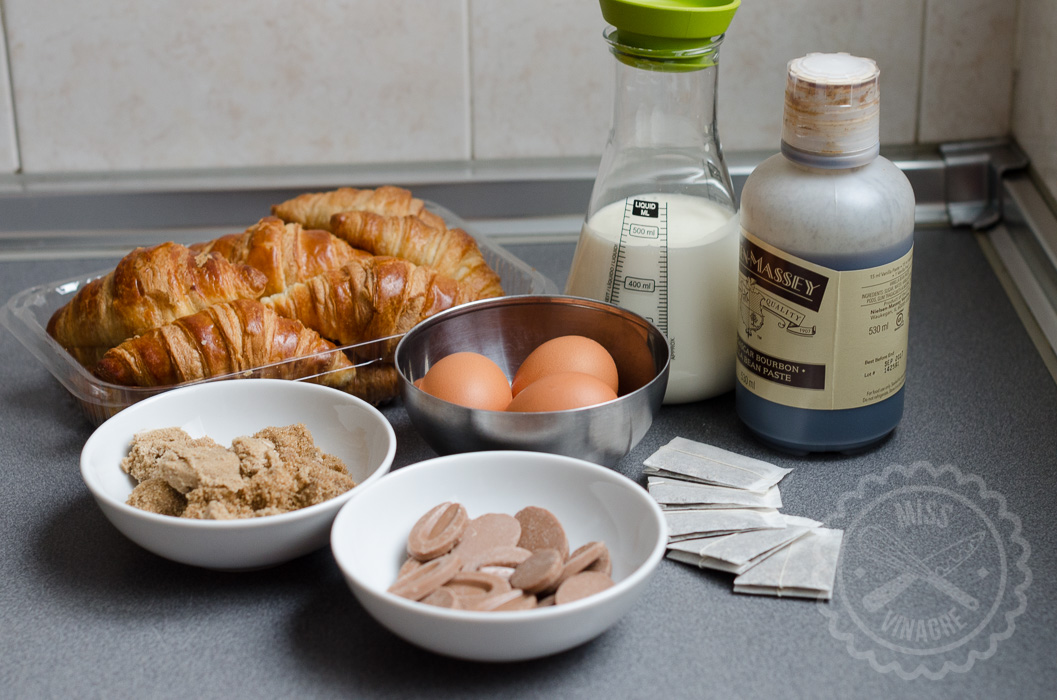 Ingredientes - Pudding de Croisssants, Chocolate y Chai